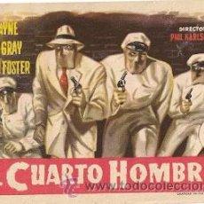 Cine: EL CUARTO HOMBRE. 1952- JOHN PAYNE, COLEEN GRAY, PRESTON FOSTER. Lote 29935478