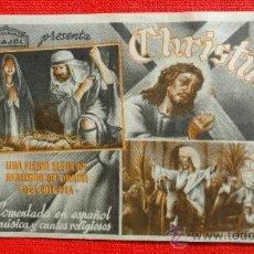 Cine: CHRISTUS, PROGRAMA ORIGINAL ARAJOL, SP. Lote 29935654