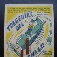 Cine: TRAGEDIAS DEL PATO DONALD, ARAJOL. Lote 29936211