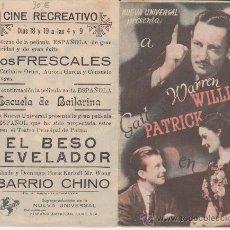 Cine: EL BESO REVELADOR. DOBLE DE UNIVERSAL. CINE RECRETIVO. . Lote 29942163