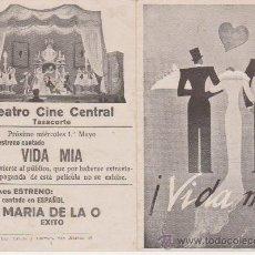 Cine: ¡VIDA MÍA! DOBLE DE U FILMS. TEATRO CINE CENTRAL - TAZACORTE.. Lote 29973587