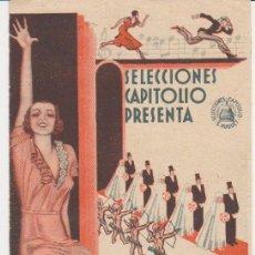 Cine: A CASARSE MUCHACHAS! DOBLE DE CAPITOLIO. IDEAL CINEMA 1934.. Lote 29973662