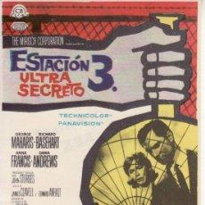 Cine: ESTACION 3 ULTRA SECRETO. CON PROPAGANDA. Lote 29953853