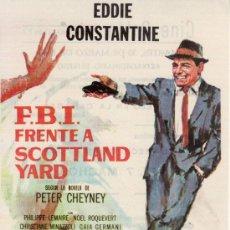 Cine: F.B.I. FRENTE A SCOTLAND YARD . CON PROPAGANDA. Lote 29956338