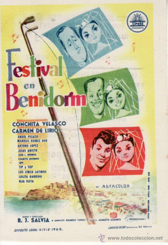 FESTIVAL EN BENIDORM . CON PROPAGANDA (Cine - Folletos de Mano - Comedia)