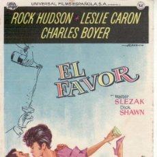 Cine: EL FAVOR . ROCK HUSDON .SIN PROPAGANDA. Lote 29956449