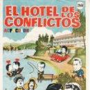 Cine: EL HOTEL DE LOS CONFLICTOS. FOLLETO CON PROPAGANDA.. Lote 29977443