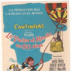 Cine: LA VUELTA AL MUNDO EN 80 DIAS PROGRAMA SENCILLO CB CANTINFLAS. Lote 29978843