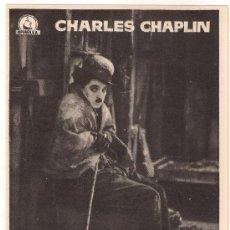 Cine: LA QUIMERA DEL ORO PROGRAMA SENCILLO DIPENFA CHARLES CHAPLIN. Lote 104362735