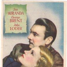 Cine: TRAFICO DE DIAMANTES PROGRAMA SENCILLO CHAMARTIN GEORGE BRENT ISA MIRANDA JOHN LODER C. Lote 29985901