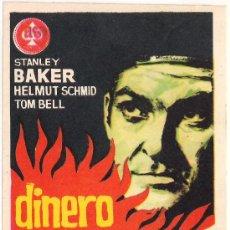 Cine: DINERO EN LLAMAS PROGRAMA SENCILLO AS STANLEY BAKER. Lote 29986228