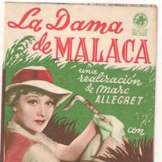 Cine: LA DAMA DE MALACA PROGRAMA DOBLE JOSE BALART EDWIGE FEUILLERE MARC ALLEGRET. Lote 29986325