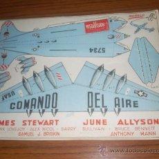 Cine: COMANDO DEL AIRE - JAMES STEWART , JUNE ALLYSON - PARAMOUNT - PROGRAMA DE AVION RECORTABLE. Lote 44156177