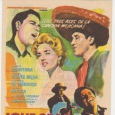 Cine: ¡QUE SEAS FELIZ! SENCILLO DE COLUMBIA. TEATRO FLETA - ZARAGOZA 1959. ¡IMPECABLE!. Lote 30037563