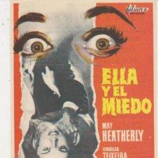 Foglietti di film di film antichi di cinema: ELL Y EL MIEDO. SENCILLO DE FILMAX. TEATRO REGIO - YECLA.. Lote 30057981