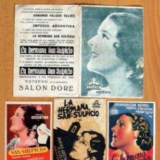 Cine: LA HERMANA SAN SULPICIO - 5 PROGRAMAS DIFERENTES - IMPERIO ARGENTINA Y MIGUEL LIGERO - CON PUBLICIDA. Lote 30037594
