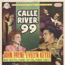 Cine: CALLE RIVER 99- JOHN PAYNE, EVELYN KEYES. Lote 30042157