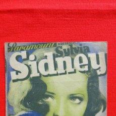 Cine: MARY BURNS, FUGITIVA, SYLVIA SIDNEY, PROGRAMA DOBLE ORIGINAL, 1941, CON PUBLICIDAD TEATRO CERVANTES. Lote 30044342