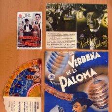 Cine: LA VERBENA DE LA PALOMA - 4 PROGRAMAS DIFERENTES - MIGUEL LIGERO Y ROBERTO REY - CON PUBLICIDAD. Lote 30054649