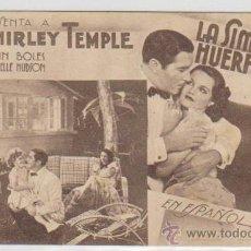 Cine: LA SIMPÁTICA HUERFANITA. PROGRAMA TARJETA FOX. CINE GADES 1935.. Lote 30075536