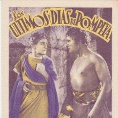 Cine: LOS ULTIMOS DIAS DE POMPEYA. PROGRAMA TARJETA DE RADIO FILMS. CINE COLISEUM - SALAMANCA.. Lote 30075804
