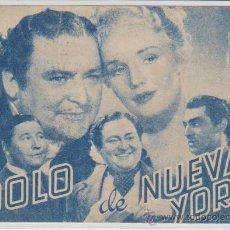 Cine: IDOLO DE NUEVA YORK. DOBLE DE RKO RADIO FILMS. TEATRO PRINCIPAL - SANLUCAR DE BARRAMEDA 1944.. Lote 30082328