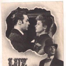 Cine: LUZ QUE AGONIZA PROGRAMA SENCILLO MGM INGRID BERGMAN CHARLES BOYER RARO. Lote 30070840