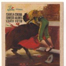 Cine: EL PRECIO DE LA GLORIA PROGRAMA DOBLE E FILMS TOROS RARO. Lote 30071069
