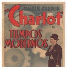 Cine: TIEMPOS MODERNOS PROGRAMA DOBLE ARTISTAS ASOCIADOS CHARLES CHAPLIN PAULETTE GODARD 1. Lote 30071448