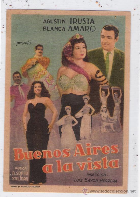 BUENOS AIRES A LA VISTA (Cine - Folletos de Mano - Musicales)
