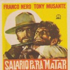 Cine: SALARIO PARA MATAR. SENCILLO DE DIPENFA. ¡IMPECABLE!. Lote 30166052