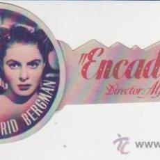Folhetos de mão de filmes antigos de cinema: ENCADENADOS. SENCILLO TROQUELADO.TEATRO CINE VILLAMARTA.. Lote 30175007