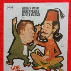 Cine: LOS EXTREMEÑOS SE TOCAN, GARISA, PAJARES, IMPECABLE ORIGINAL DE JANO, 1970, CON PUBLI CINE REUS. Lote 30207414
