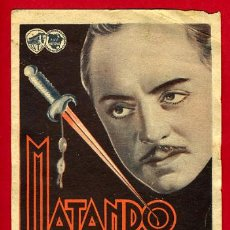 Cine: MATANDO EN LA SOMBRA 1935 , DOBLE , ORIGINAL, CON CINE , S1936. Lote 30211667