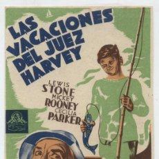 Cine: LAS VACACIONES DEL JUEZ HARVEY. SENCILLO DE MGM.. Lote 30269637