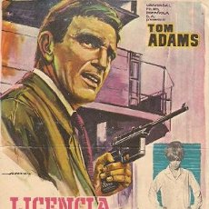 Cine: LICENCIA PARA MATAR- TOM ADAMS. Lote 30219148