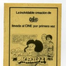 Cine: MAFALDA. ADESIVO-PEGATINA.. Lote 98475358