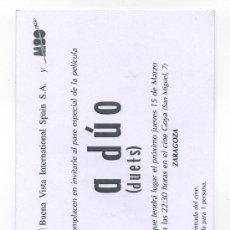 Cine: A DUO, CON GWYNETH PALTROW.. Lote 178312237