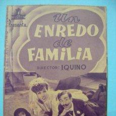 Cine: UN ENREDO DE FAMILIA. DOBLE CON SELLO CINE. Lote 30267973