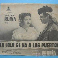 Cine: LA LOLA SE VA A LOS PUERTOS. DOBLE. SIN PUBLICIDAD. Lote 30267998