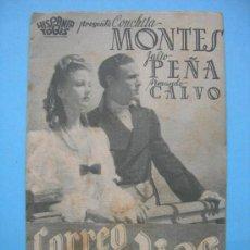 Cine: CORREO DE INDIAS. DOBLE CON PUBLICIDAD. AÑO 1943. Lote 30268875