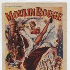 Cine: MOULIN ROUGE. SENCILLO DE VICTORY FILMS. CINEMA VALIRA - SEO DE URGEL 1954.. Lote 30281770