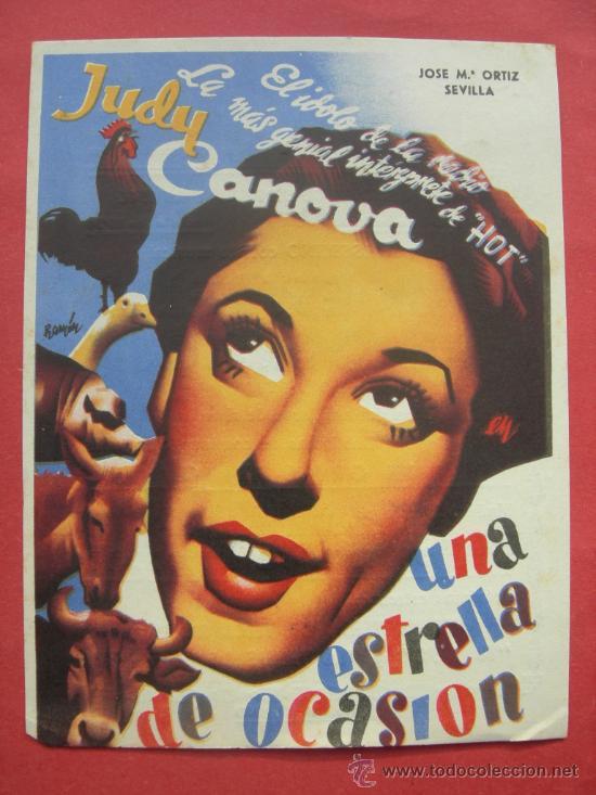 UNA ESTRELLA DE OCASION - JUDY CANOVA (Cine - Folletos de Mano - Musicales)