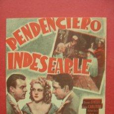 Cine: PENDENCIERO INDESEABLE - DENNIS O KEEFE CLAIRE CARLETON. Lote 30286211
