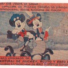 Cine: LAS AVENTURAS DE MICKEY PLUTO Y PATO DONALD PROGRAMA SENCILLO ARAJOL WALT DISNEY B. Lote 30290795