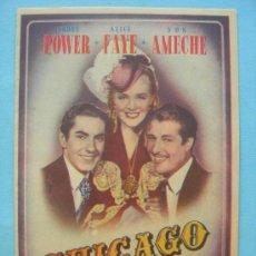 Cine: CHICAGO. DOBLE CON SELLO CINE. Lote 30321600