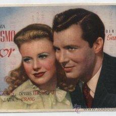 Cine: ESPEJISMO DE AMOR. SENCILLO DE FLORALVA. CINE IDEAL - SAN QUINTÍN DE MEDIONA 1945.. Lote 30322368