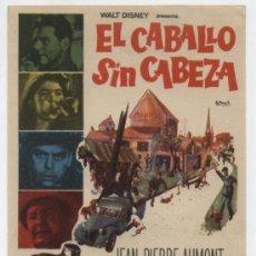 Cine: EL CABALLO SIN CABEZA. SENCILLO DE FILMAYER. . Lote 30367054