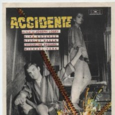 Cine: ACCIDENTE. SENCILLO DE MUNDIAL FILMS.. Lote 30416906