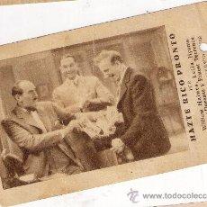 Cine: HAZTE RICO PRONTO, TARJETA METRO GOLDWYN MAYER, AÑOS 30, JIMMY DURANTE. Lote 30362431